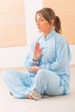 Meditating woman Royalty Free Stock Image