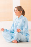 Meditating woman Royalty Free Stock Photography