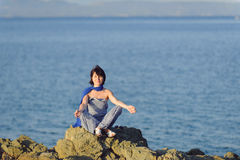 Meditating Woman Stock Images