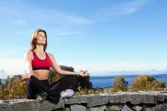 meditating woman yoga Στοκ εικόνες με δικαίωμα ελεύθερης χρήσης