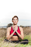 Meditating yoga woman Royalty Free Stock Photos