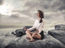 Meditating Royalty Free Stock Photos
