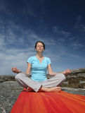Meditating young woman Stock Photography