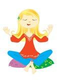Meditation lizenzfreie abbildung