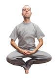 Meditation. Young man levitate. Zen meditation Stock Photography