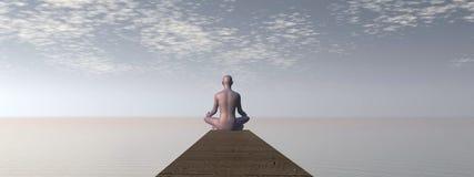 Meditation - 3D Render Royalty Free Stock Photo