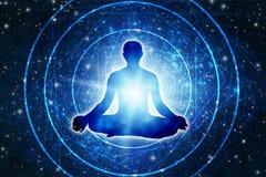 meditation vektor illustrationer