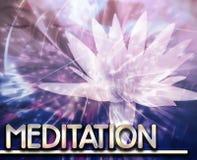 Meditation Abstract concept digital illustration Stock Photos