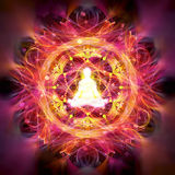 Meditation abstract illustration Stock Photo