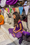 Meditation around mahabodhi temple Stock Photography