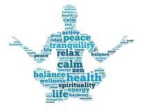 The meditation as the way to attain peace of mind stock photo