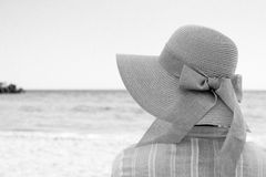 Meditation B&W. Shot made at Black Sea, Olimp, Romania, this summer Stock Photos