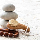 Meditation and balance for clean and zen facial, copy space Stock Photos