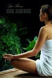 Meditation banner Royalty Free Stock Images