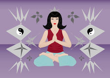 Meditation of a beautiful woman Royalty Free Stock Photos