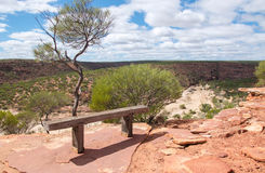 Meditation Bench on Kalbarri Cliff Royalty Free Stock Photos