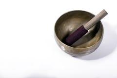 Meditation Bowl. Tibetan meditation bowl for worhsip Stock Image