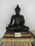 Meditation of Buddha image. Meditation of black Buddha image Stock Photography