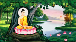 The meditation of Buddha image Royalty Free Stock Photo
