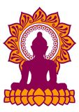 Meditation - Buddha - Lotus-Blume Stockbild