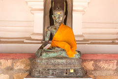 Meditation Buddha statue. Meditation Buddha statue in a temple Royalty Free Stock Images