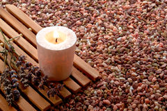 Meditation Candle Burning royalty free stock image
