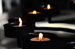 Meditation with candle Stock Images