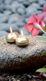 Meditation Candles Royalty Free Stock Photography