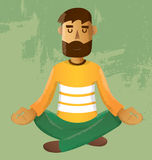 Meditation. Cartoons concepts meditation vector eps10 Royalty Free Stock Photo