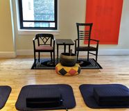 Meditation Class stock photos
