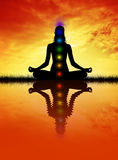 Meditation chakra Stock Photos