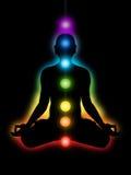 Meditation, chakras lizenzfreie abbildung