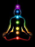 Meditation, chakras Stock Image