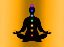 In meditation with chakras Stock Photos