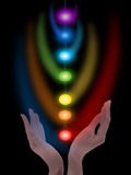 Meditation, chakras Royalty Free Stock Photo