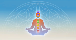 In meditation with chakras Stock Image