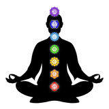 In meditation with chakras Stock Images
