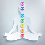 Meditation and chakras. Stock Photography