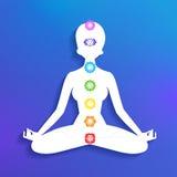 Meditation and chakras Royalty Free Stock Image