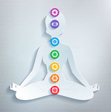 Meditation and chakras Royalty Free Stock Image