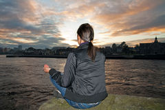 Meditation in the city Stock Images