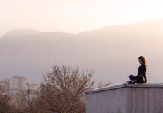 Meditation in city  Stock Image