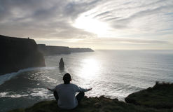 Meditation on the cliffs Royalty Free Stock Photography