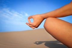 Meditation close up. Young woman meditation close up Stock Image