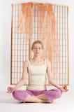 Meditation closed eyes Royalty Free Stock Images