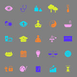 Meditation color icons on gray background Royalty Free Stock Image
