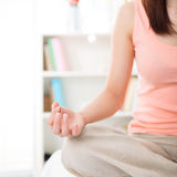 Meditation concept. Close up on hand Royalty Free Stock Photo