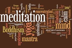 Meditation concept Royalty Free Stock Photography