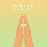 Meditation concept, wellbeing Stock Photo