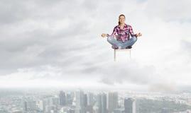 Meditation concept Stock Images